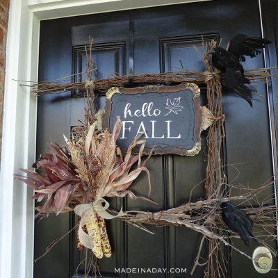 Hello Fall Harvest Wreath + FREE Printable