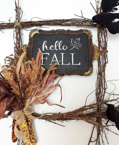 Hello Fall Harvest Wreath + FREE Printable 39