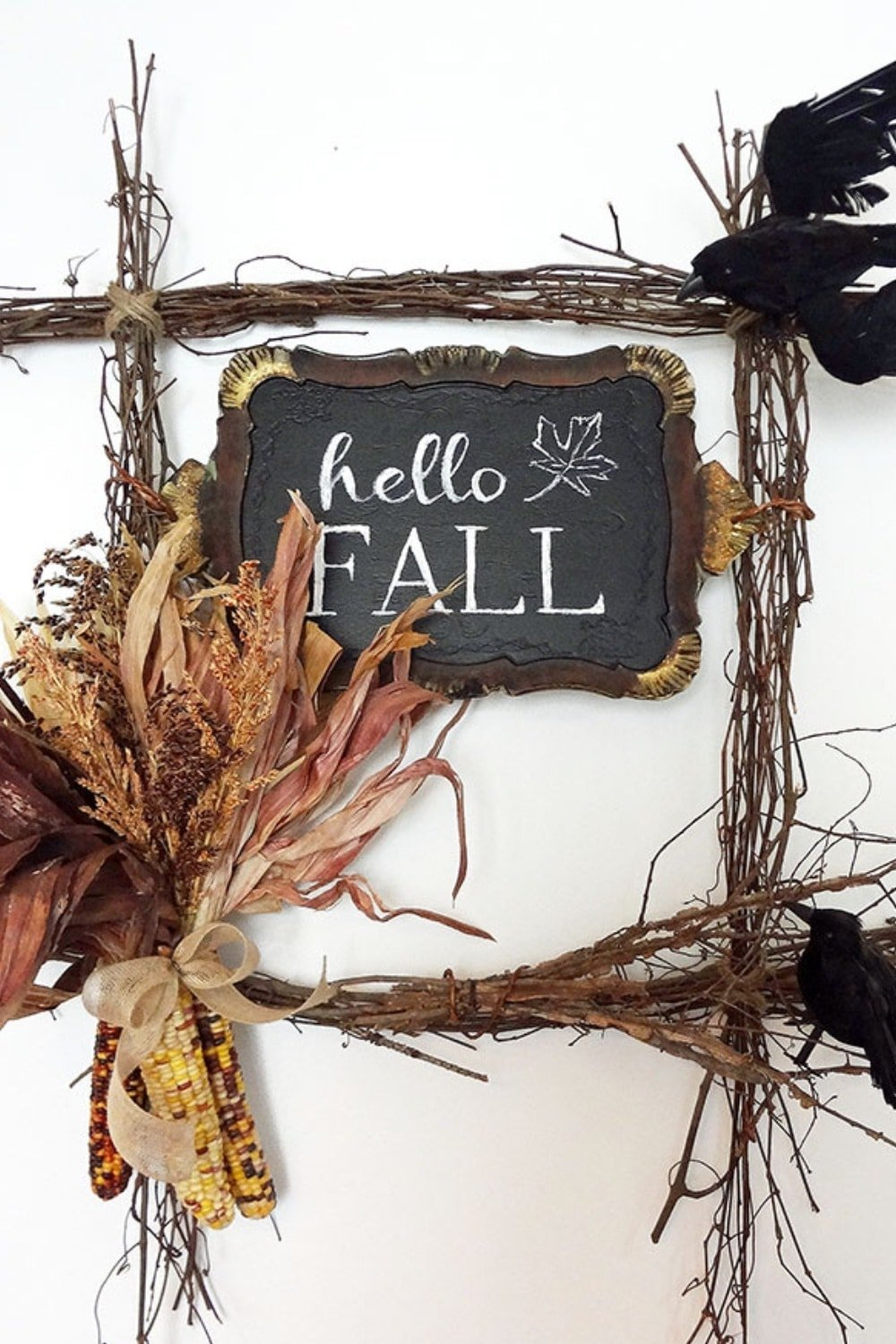 Hello Fall Harvest Wreath + FREE Printable
