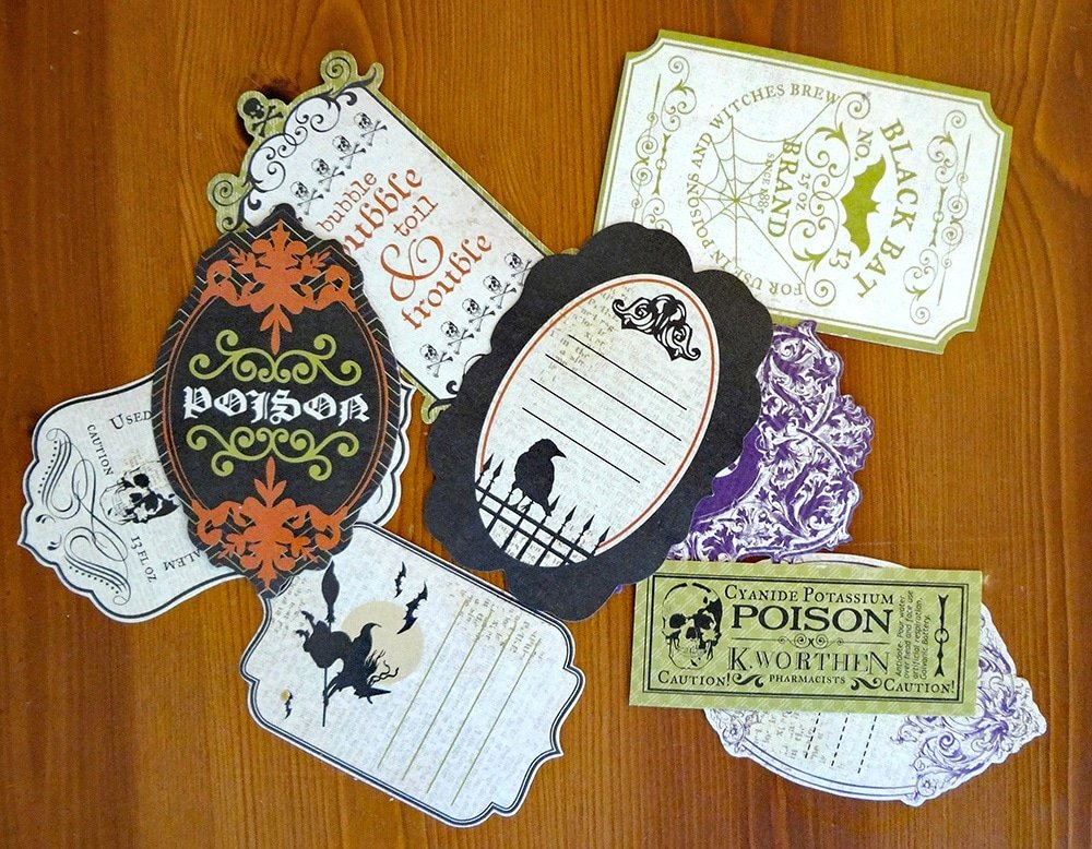 Poison Halloween Labels