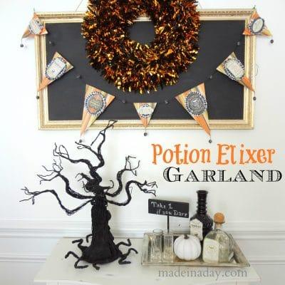 Potion Garland Banner