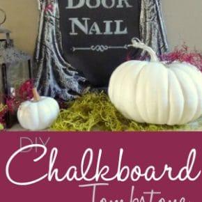 Creepy DIY Halloween Chalkboard Tombstone 1