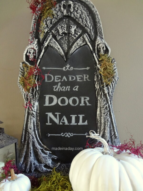How to make a Chalkboard Tombstone