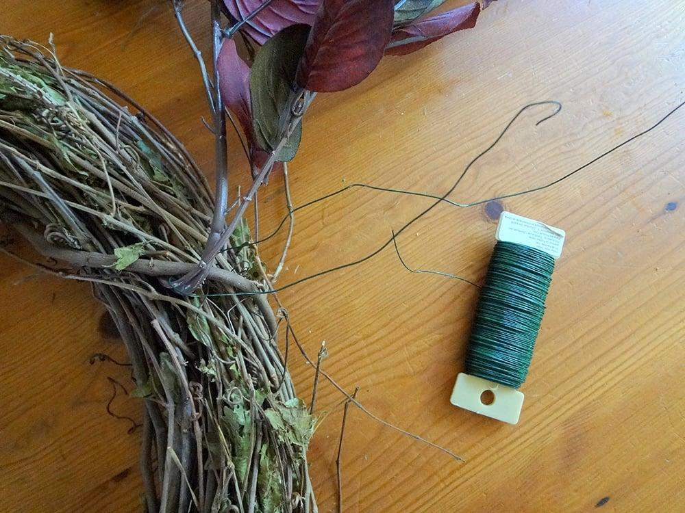 wire foliage through vines