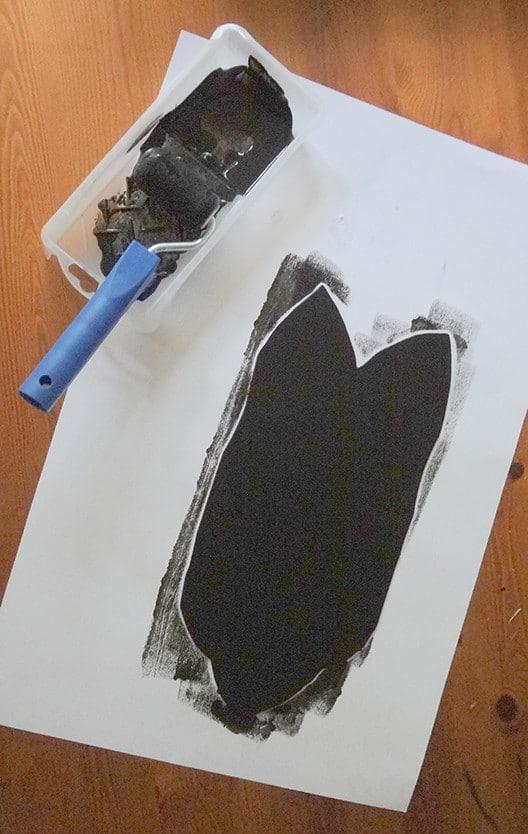 paint craft foam with chalkboard paintn