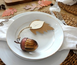 Acorn Place Cards Made in a Day #turkeytablescapes