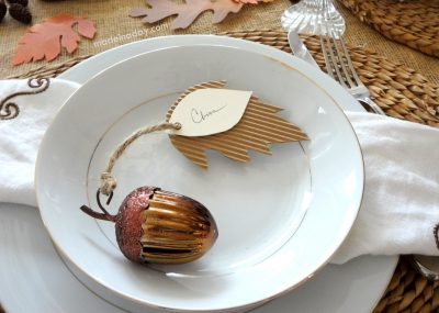 Corrugated Leaf Place Cards 8