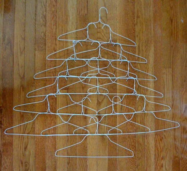 Attach hanger rows to make tree