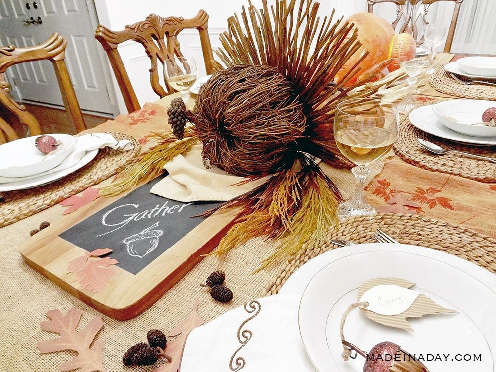 Stunning Rustic Turkey Centerpiece 2
