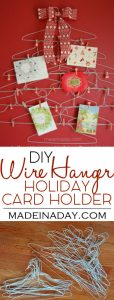 Quirky Wire Hanger Holiday Card Holder 1