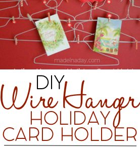 Quirky Wire Hanger Holiday Card Holder 6