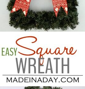 Easy Square Wreath The Ornamator Review 1
