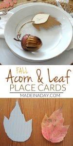 Corrugated Leaf Place Cards 1