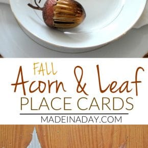 Corrugated Leaf Place Cards 1
