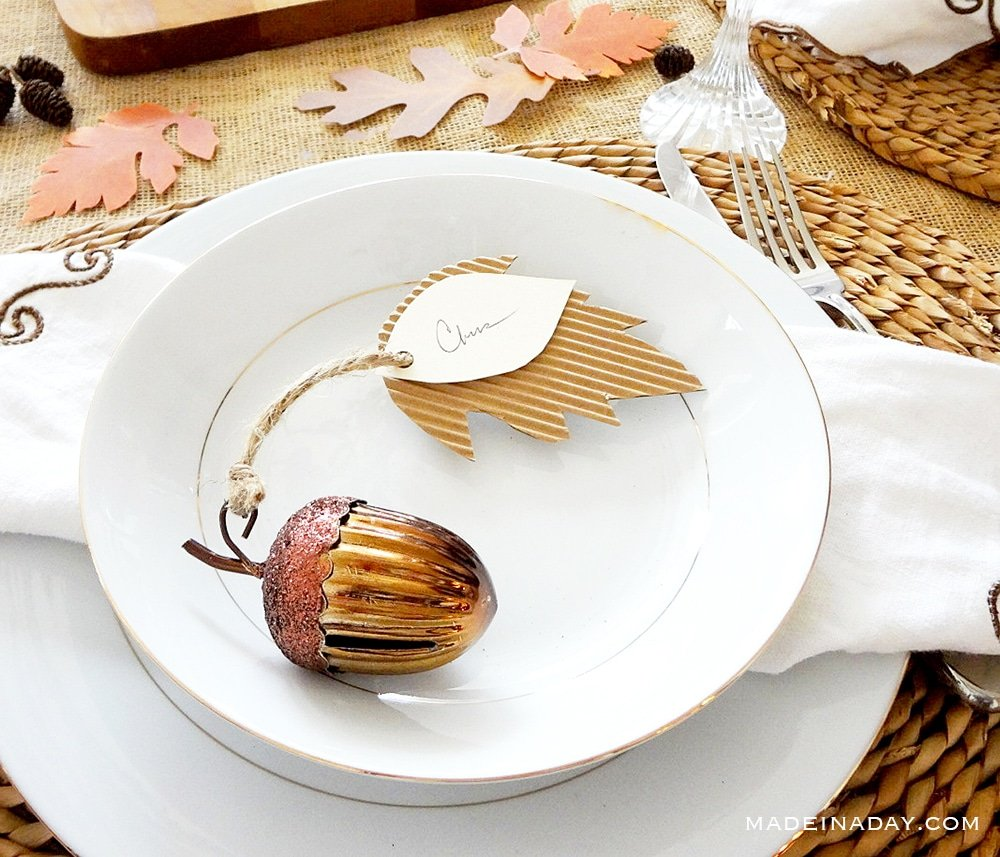 Corrugated Leaf Place Cards