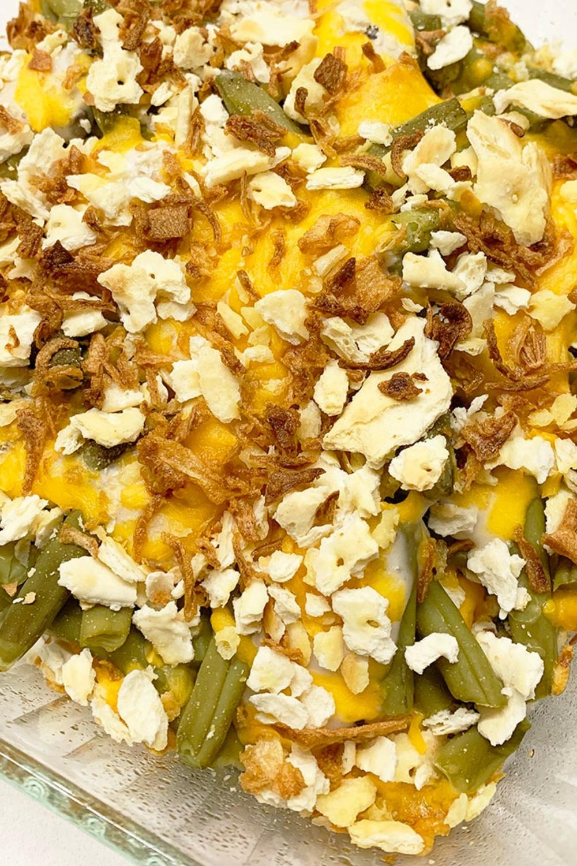 Cheese and Cracker Green Bean Casserole