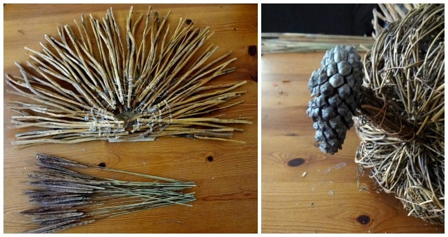 Rustic Thanksgiving Turkey w/ pine cone head!