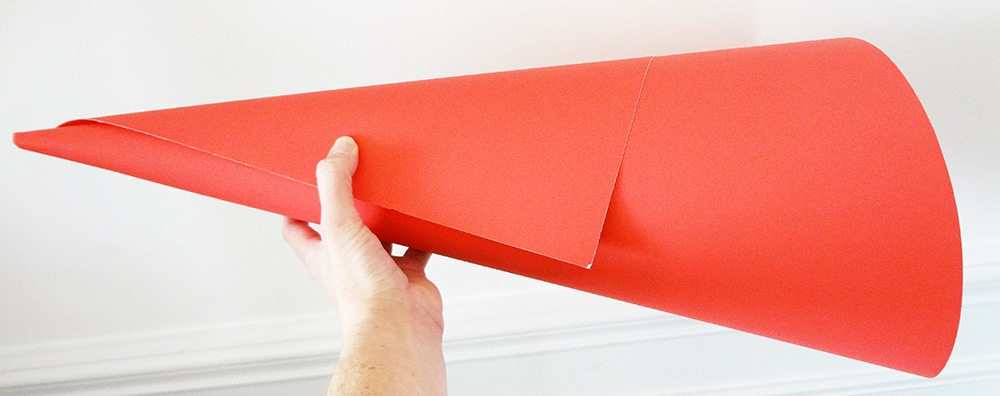 make a cone from poster board