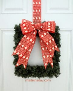 DIY Square Wreath