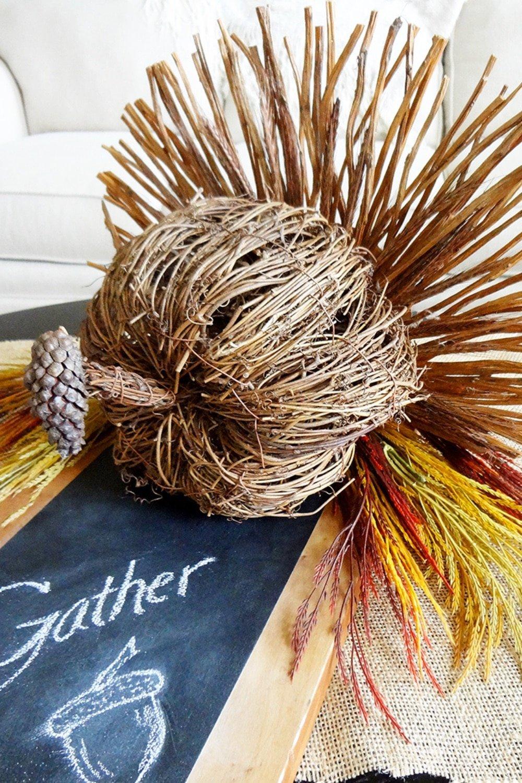 Stunning Rustic Turkey Centerpiece