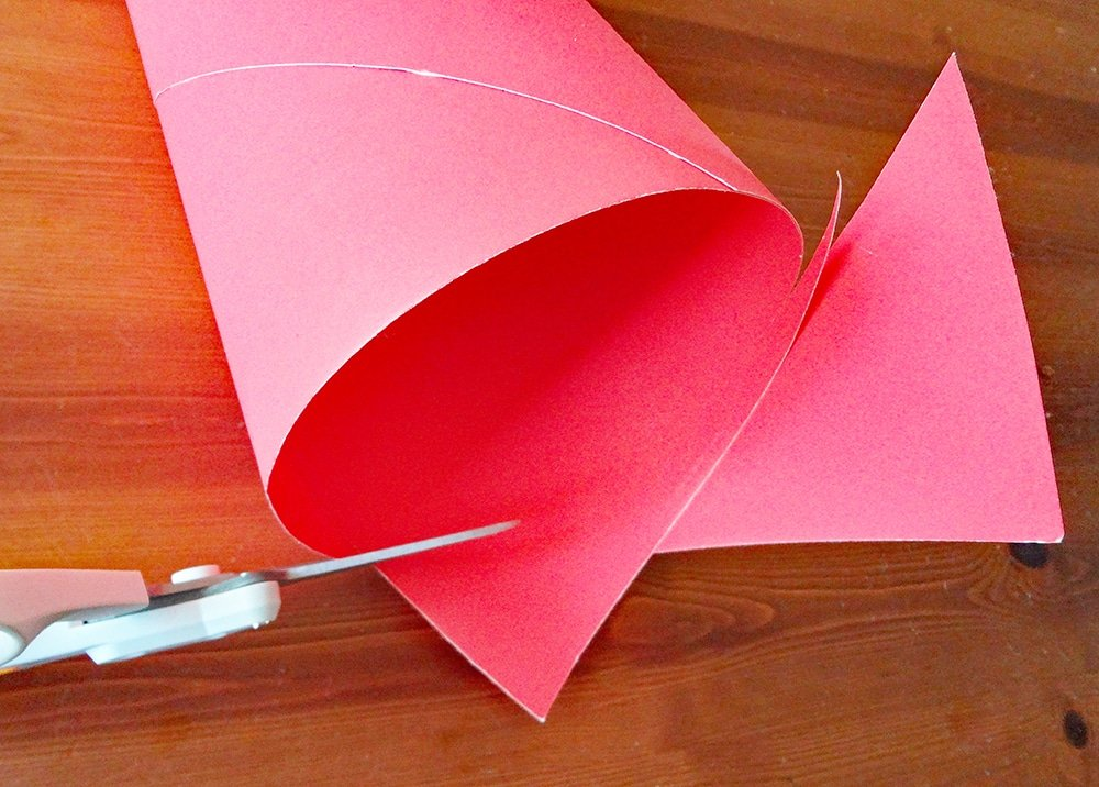 make a cone tree from poster board
