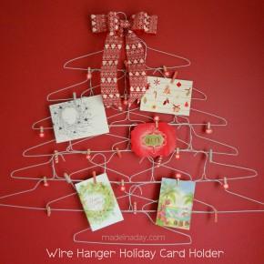Wire Hanger Card Holder