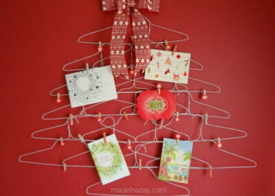Quirky Wire Hanger Holiday Card Holder 5