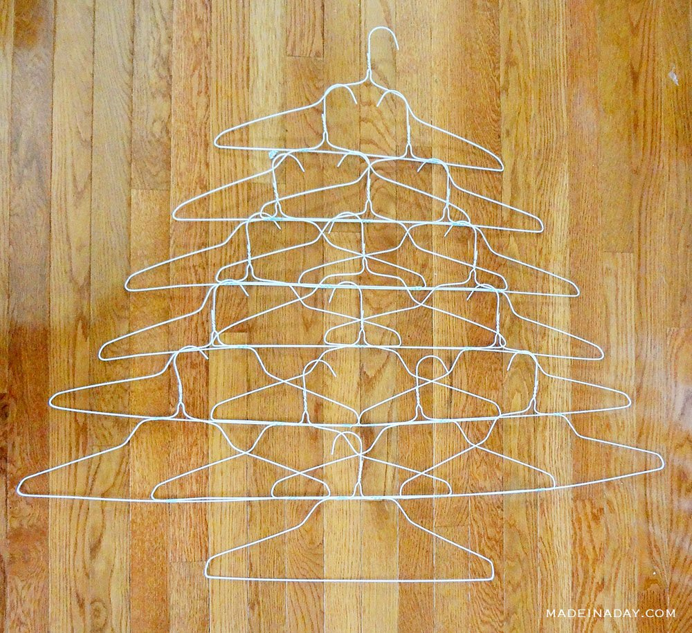 dry cleaning wire hanger christmas tree