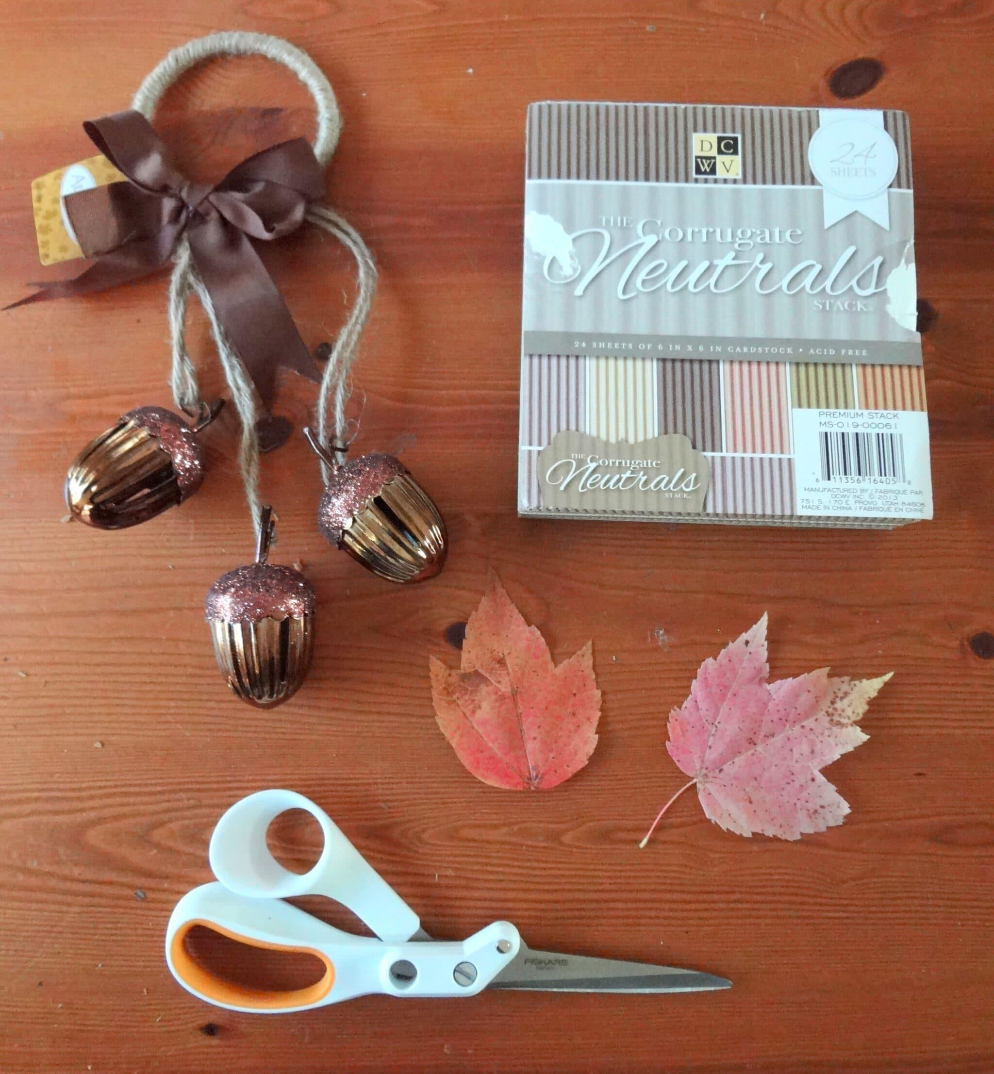 make leaf place cards