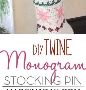 Twine Monogram Letter Stocking Pin 1