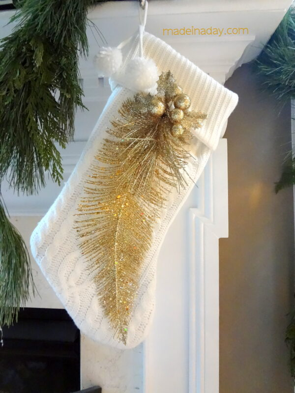 Gold Feather Stocking #fabulouslyfestive