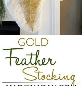 Gold Feather Stocking #fabulouslyfestive 1
