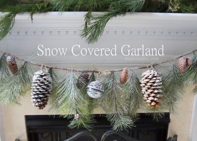 Snow Covered Garland Holiday Decor 2