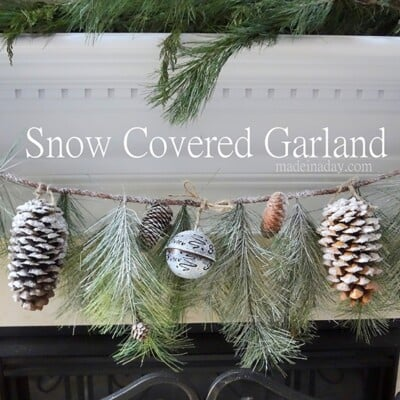 Snow Covered Garland Holiday Decor