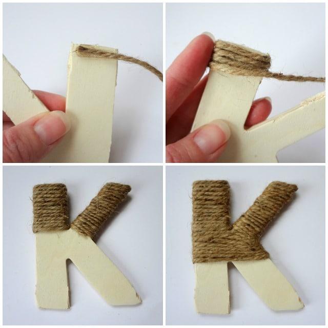 Twine Monogram Letter Stocking Pin