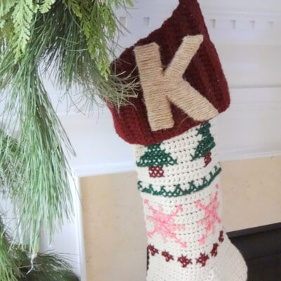 Twine Monogram Letter Stocking Pin