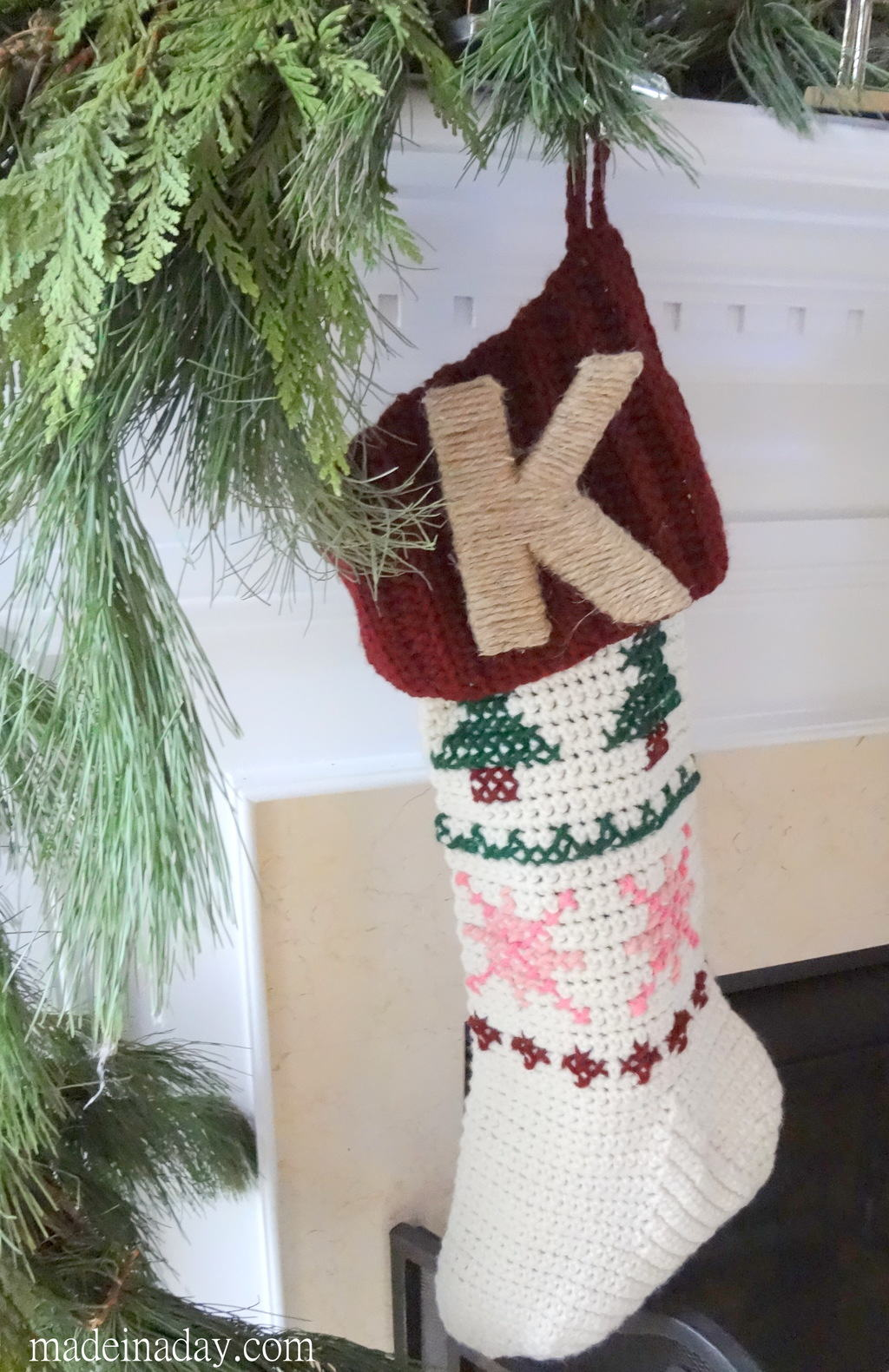 Twine Monogram Stocking Pin