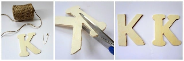 Twine Monogram pin