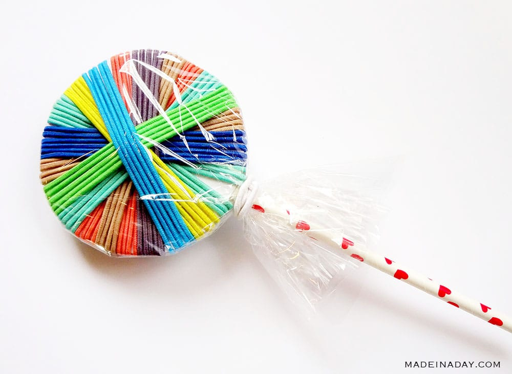 wrap hair tie lollipop