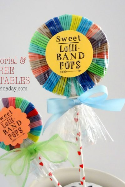 Hair Band Lollipops Free Printable