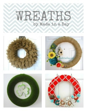 Simple collage wreaths