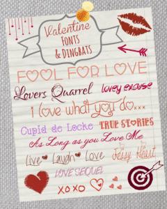Valentine Fonts Dingbats