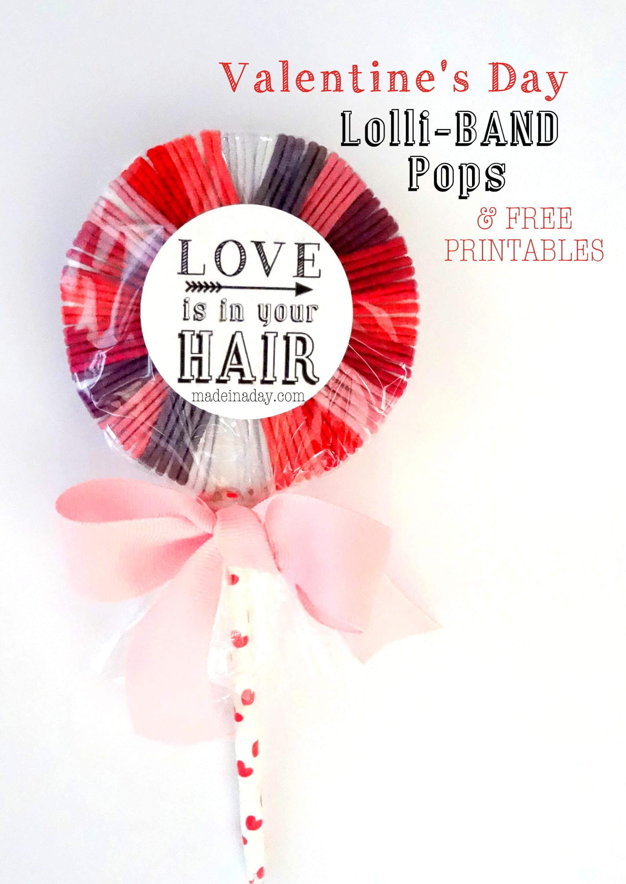 Hair Band Lollipops Free Printable