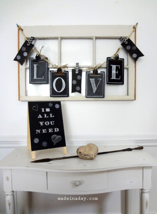 Chalkboard Clipboard Banner Sign 7