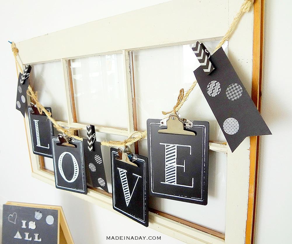 Valentine Love garland