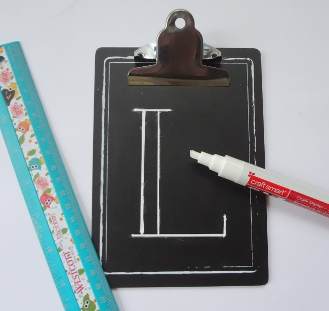 draw letters with a ruler