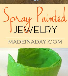 Spray Painted Jewelry Up-do 1