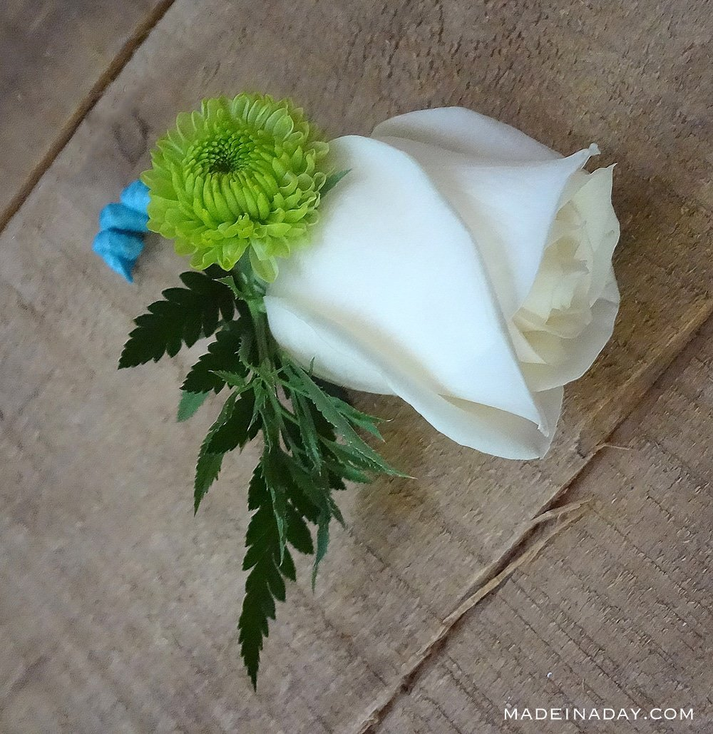 How to make a boutonniere for prom weddings made in a day how to make a boutonniere with ribbon wedding boutonniere prom boutonniere mightylinksfo