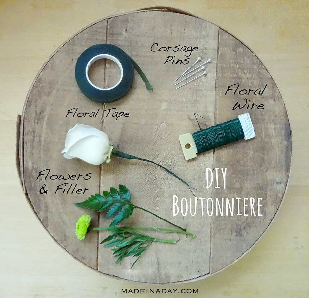 boutonniere supplies to make them DIY