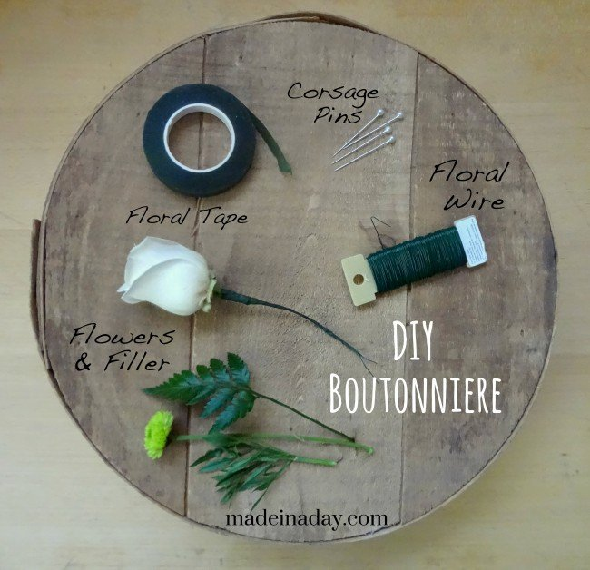 DIY Boutonniere tutorial